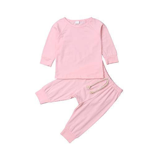 Pijama unisex para bebé, parte superior con pantalones, conjunto de 2 piezas, algodón orgánico conjunto de ropa para bebés niños y niñas