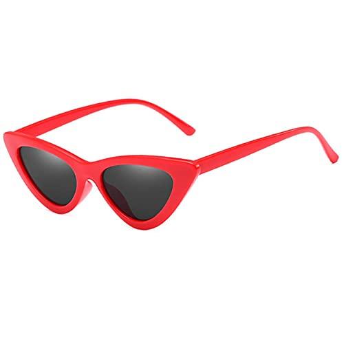 ShSnnwrl Único Gafas de Sol Sunglasses Nuevas Gafas De Sol De Lujo con Ojo De Gato para Mujer, Gafas De Sol Clásicas Y Clásicas P