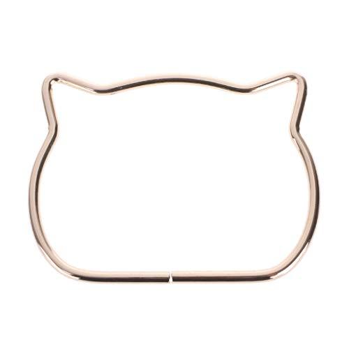 Eliky tashandgrepen schattige kattenoor metalen tas handvat vervanging voor doe-het-zelf schoudertassen maken handtas goud