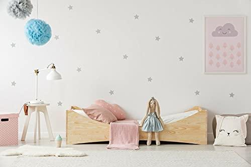 Mami | Cama para niños | Cuna Montessori empresa | Colchón Smart (no incluido) Altura niño | Color madera natural | Grabado personalizado con el nombre