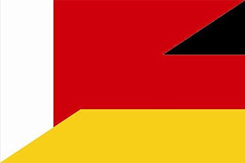 U24 Sticker Dubai-Duitsland vlag vlag vlag 30 x 20 cm autosticker sticker