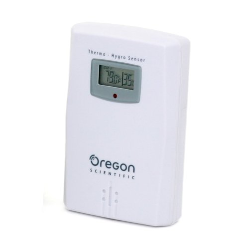 Oregon Scientific THGR122NX Water Resistant Remote Sensor W/ LCD Display. Measures and Displays Humidity & Temperature from -22F to 140F