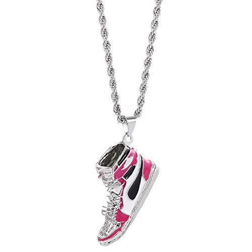 Naswi Zapatos Collares Pendientes Zapatos de Baloncesto Antiguos Collar Joyería de Hip Hop Regalo para Collier Femme Collar