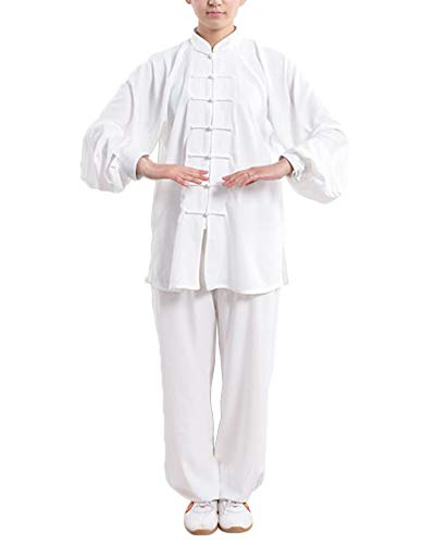 DianshaoA Unisex Tai chi Uniforme Artes marciale, Ropa Traje de Kung fu y Qi Gong de algodón y Lino