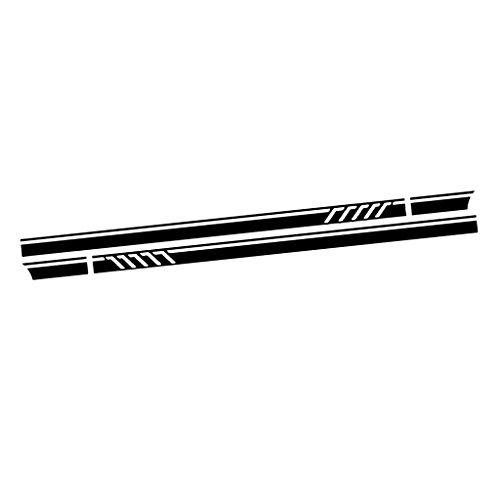 MagiDeal Autocollant de Décalque de Vinyle de Voiture Bande Longue Sticker 2X - Noir