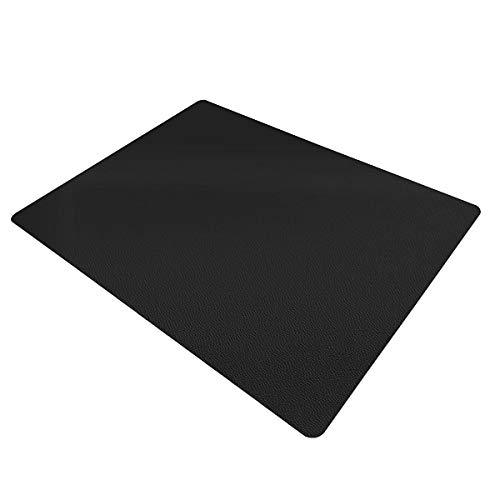 Certeo Bodenschutzmatte | BxH 90 x 120 cm| PP | Hartboden | Schwarz | Stuhlunterlage Bürostuhlunterlage Bodenschutz Schutzmatte
