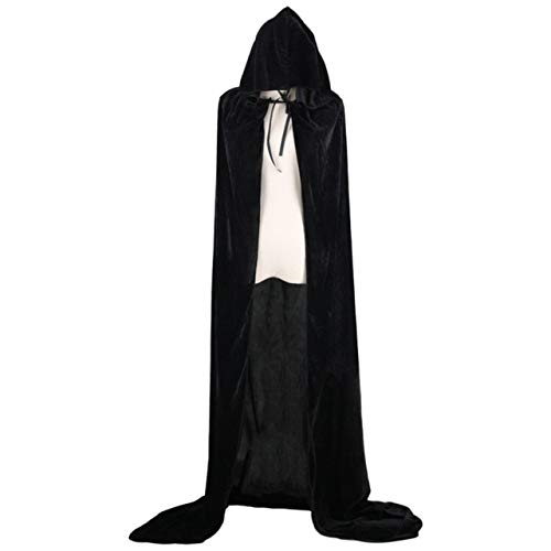 SZXCX Capa con Capucha de Halloween Brujas de Terciopelo Princesa Muerte Capa Larga Disfraz de nios Adultos Cosplay Prendas de Vestir Cosplay