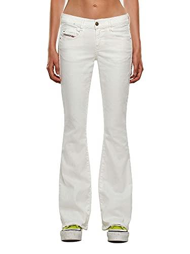 DIESEL D- ebbey L.32 Pantaloni Jeans, White (100 Bright White), 28 Femme