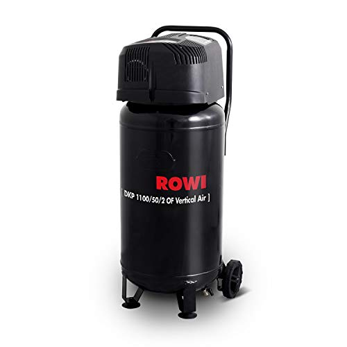ROWI Druckluft Kompressor 1100W Ölfrei, 50 Liter Kessel