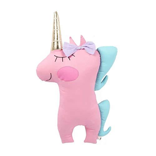 MKmd-s Juguete de Peluche de Colores, Juguetes de muñeca de Poni de Peluche de Caballo de Peluche, para niños niñas decoración de la habitación de Regalo (Rosa) 45 cm