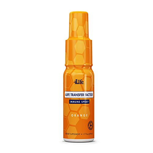 4Life - Transfer Factor Immune Spray - Orange - Mouth and Throat Support - 1.7 Fl Oz