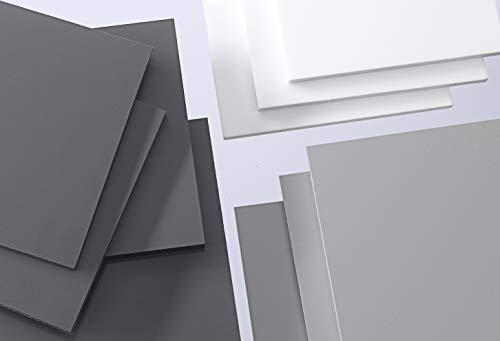 PVC Hartplatte weiß 2-20 mm Zuschnitt SIMONA® RÖCHLING® TROVIDUR® (2 mm, 245 x 245 mm)