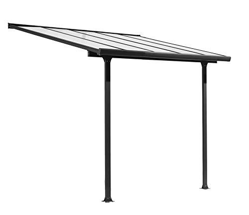 Pergola a Muro per Veranda con Struttura in Alluminio 303 x 295 x 305 CM