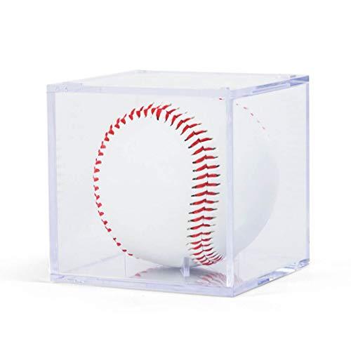 ChalkTalkSPORTS Quadratische Acryl-Vitrine | Baseball-Halter | 3er-Pack