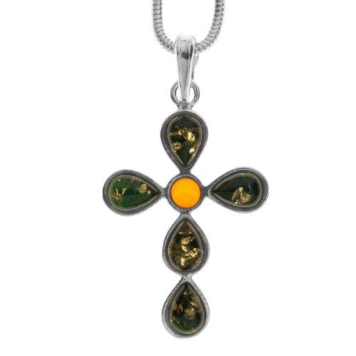 InCollections 242A205006340 - Collar de Mujer de Plata de Ley con ámbar, 42 cm