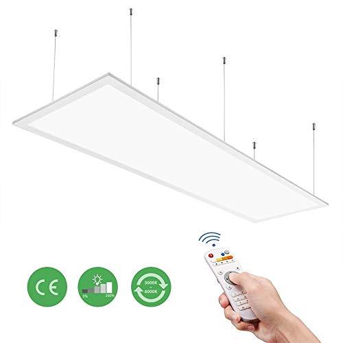 Anten LED Panel 120x30cm, 40W, 4000LM, 2700-6500 Kelvin, Dimmbar LED Deckenleuchte mit Fernbedienung, Ultradünne Panel Lampe geeignet für Büro, Küche, Flur, Labor, Lager, schauraum usw.