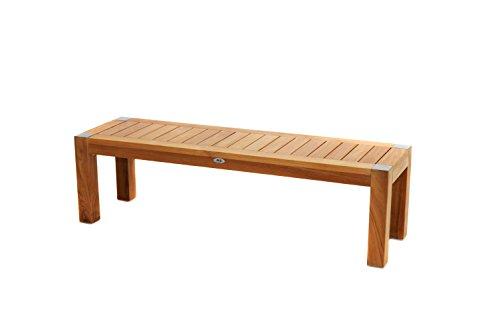 Ploß Sitzbank Bromo 180 cm - Premium Balkonbank für 3-4 Personen aus Massivholz - Bank mit FSC-Zertifikat - Holzbank aus Teak - Teakholzbank für Garten, Terrasse & Balkon