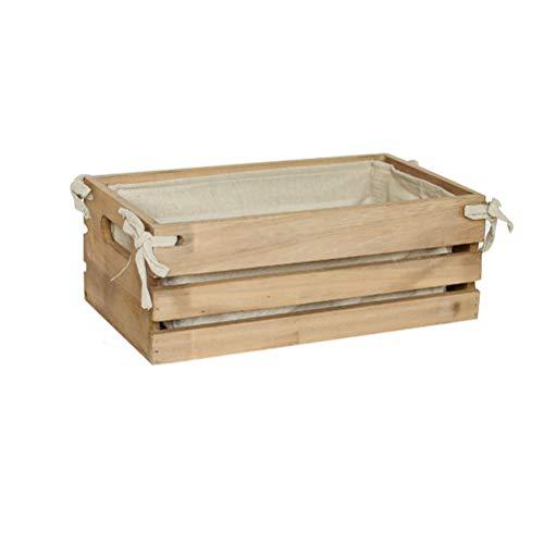 gaowei Hand-Woven-Storage Box Großvolumige Brot Obstkorb Industrie Art-Dekoration Retro-Speicher-Korb Nesting Holz Dekorative Korb (Größe : L)