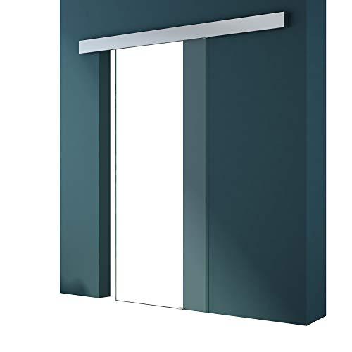 Glasschiebetür Amalfi TS19-900 in Klarglas, Griffart: Muschelgriff, BxH: 90x205cm, inkl. Softclose-Automatik