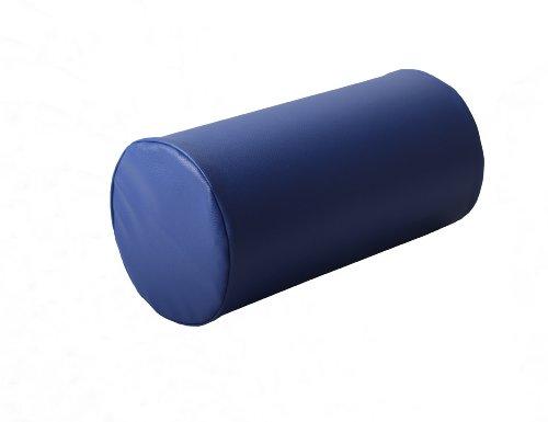 Schaumstoffrolle Nackenrolle Gymnastikrolle Lagerungsrolle Rolle aus Schaumstoff mit Bezug (Länge: 40cm Ø 20cm, Kunstleder Faro blau)