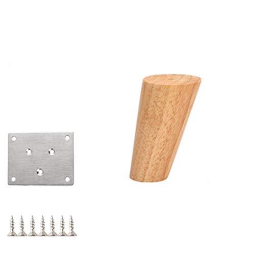 Patas de madera para sofá,patas de madera para muebles,cono de material de madera,sofá,silla,cama,armario,mesa de té,mueble para TV,pies de madera para muebles,patas de repuesto,paquete de 4