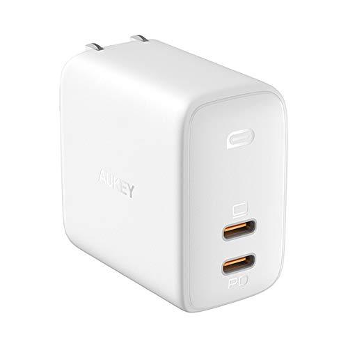 AUKEY AUKEY(オーキー) USB充電器 Omnia Duo 65W USB-C ホワイト PA-B4-WH [2ポート /USB Power Delivery対応 /GaN(窒化ガリウム) 採用]