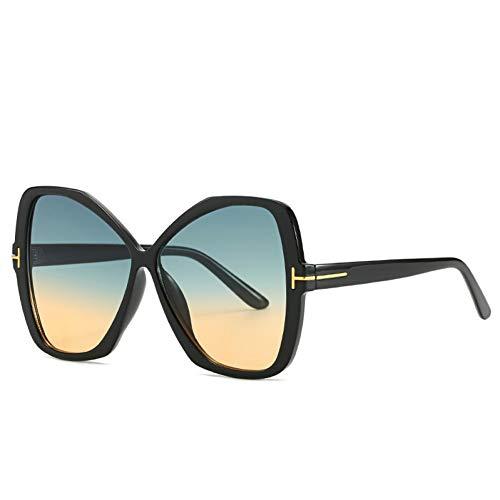YIERJIU Gafas de Sol Nuevas Gafas de Sol de Gran tamaño para Mujeres, Hombres, Gafas de Sol de Montura Grande, Tonos Rosa púrpura Claro, Gafas de Mariposa, Regalos,C5
