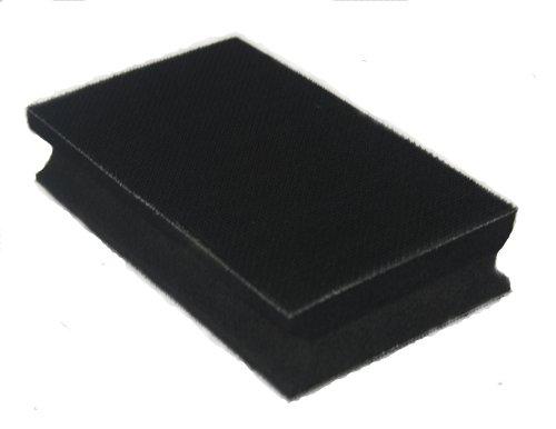 bloque de lijado mano 70x125mm - de doble duro/blando- para el disco de lijado de velcro - Lijado bloque para lijado a mano con papel de lija- DFS