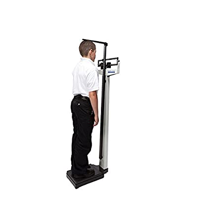 HealthOMeter 402KL Physician Balance Beam Scales with Wheels
