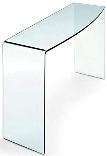 Glass Tables Online Glass Console Table Curved 100cm length x 33cm width x 75cm - 12mm Thick Glass