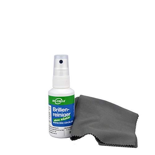 bio-chem Brillenreiniger ANTI-BESCHLAG, Schutz vor beschlagenen Brillen, Anti-Fog-Spray, 50 ml Sprühflasche + Premium-Mikrofasertuch/Brillenputztuch