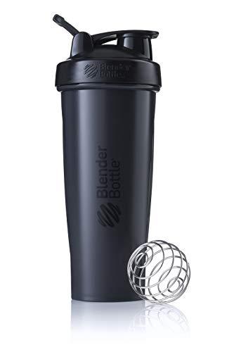 BlenderBottle Classic Loop Shaker mit BlenderBall, optimal geeignet als Eiweiß Shaker, Protein Shaker, Wasserflasche, Trinkflasche, BPA frei, skaliert bis 800 ml, 940 ml, schwarz
