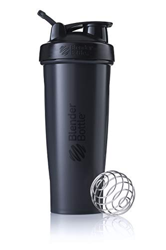 BlenderBottle Unisex's Classic Loop Protein Shaker Bottle, Black, 940 ml