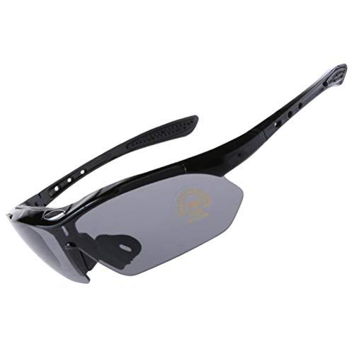 Gazaar Gafas de deporte para exteriores para bicicleta de montaña, para hombres y mujeres, a prueba de viento, a prueba de polvo y protección UV