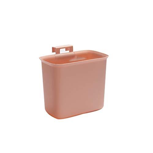 ZWD Domestic Vuilnisbakken, zonder deksel Hangable prullenbak Deur van de keukenkast Badkamer Hotel Room Office Storage Bucket Verzameling (Color : C, Size : 20 * 23 * 14cm)