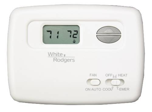White Rodgers 1F79-111 Non-Programmable Heat Pump Thermostat