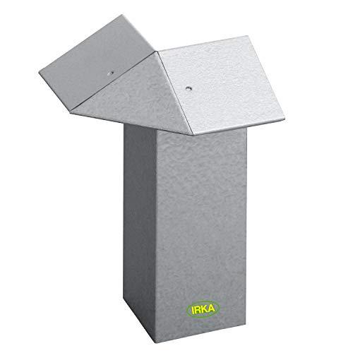 IRKA Schneckenzaun Typ2 Metall Ecke 90 Grad | Schneckenblech mit Versteifungskante |Schneckenzaun verzinkt | Schneckenabwehr Metall | Schneckenschutz giftfrei | Set individuell | Schnecken Hochbeet