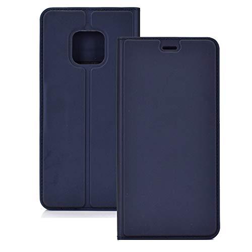 ZTH Funda Magnetic TPU Magnetic TPU + PU para Huawei Mate 20 Pro, con Ranura para Tarjeta y Soporte (Negro) (Color : Blue)