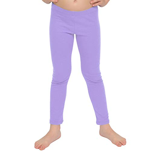 Stretch is Comfort Girl's Cotton Leggings Lavender Medium