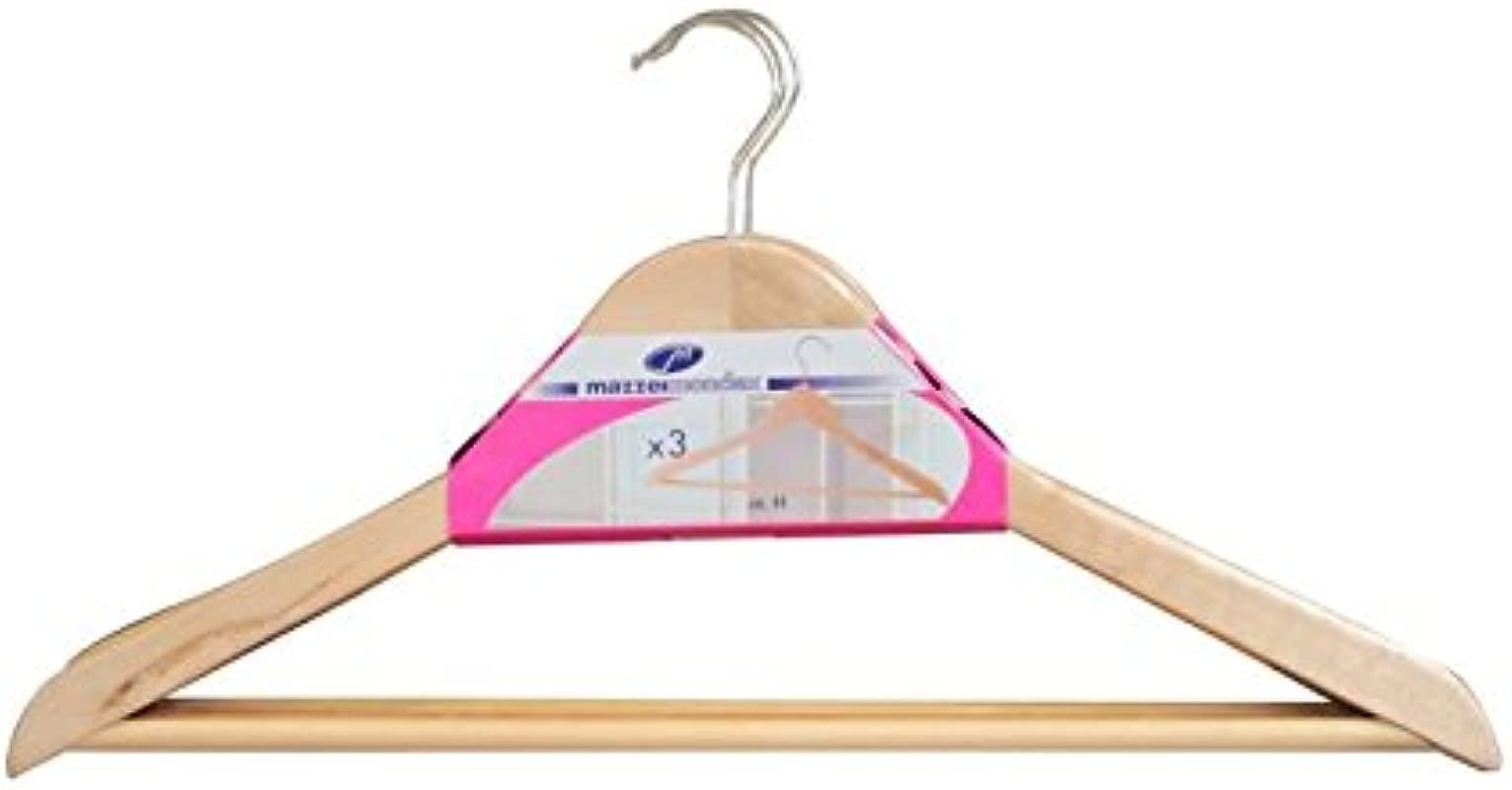 M Home Mon 9300 Triangular Hanger Set Varnished Wood Size 45 Cm Multi Colour Each