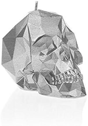 Candellana Candles Candellana- Small Skull Candle, Silver