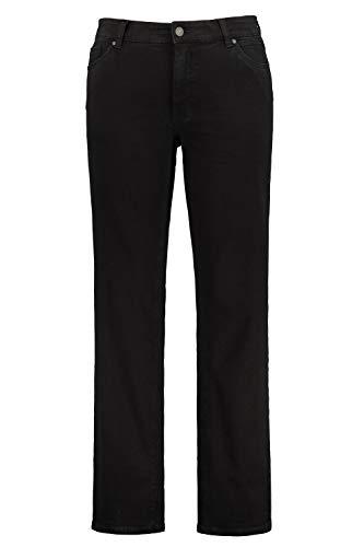 JP 1880 Herren große Größen bis 70, Jeans, 5-Pocket FLEXNAMIC®, super-elastischer Denim, Gerade geschnittenes Bein, schmalere Fußweite, Black 64 722849 11-64