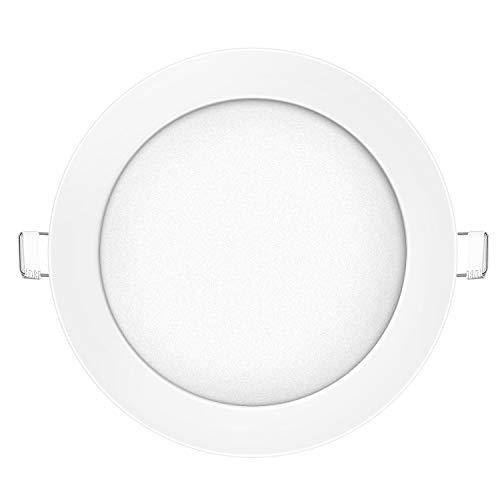 LED Panel Deckenleuchte, Dimmbar 12W Warmweiß(3000K), Ø170mm 3-Jahre Garantie Lochgröße:150~160mm, 90~900lm, ersetzt 40W Leuchtstoffröhre,Leuchte Deckenlampe Ultraslim Einbaustrahler