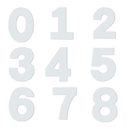 9 Stück Kuchenform 0-8 Zahlen Set Kuchen Zahlenform Zahlen Kuchenform Torte Zahlen Vorlage Zahlenform Kunststoffschablonen Zahlen zum Backen 0-9 Große Anzahl Back Kuchen Form für Geburtstag (10 Zoll)