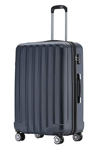 BEIBYE TSA-Schloß 2080 Hangepäck Zwillingsrollen neu Reisekoffer Koffer Trolley Hartschale Set-XL-L-M(Boardcase) (Dunkelblau, L)