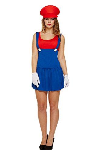 Volwassen Vrouwen Dames Super Mario Luigi Loodgieter Bros Video Game Werk Vrouw Kostuum Fancy Jurk
