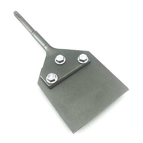 """SPKLINE 4 Inch Wide SDS-Plus Floor Scraper Tile & Thinset Scaling Chisel SDS-Plus Shank 4"""" x 10"""" Thinset Scraper Adhesives Remover Wall Scraper Fits SDS-Plus Rotary Hammers and Chipping Hammer Drills"""
