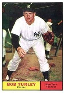 1961 Topps Regular (Baseball) Card# 40 Bob Turley of the New York Yankees Ex Condition