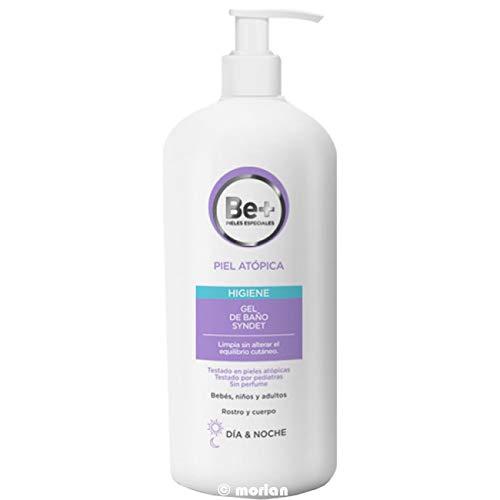 Be+ gel de baño para piel atópica Syndet Día y Noche para la cara y cuerpo, 750ml