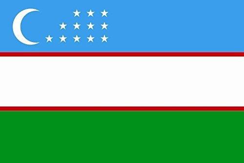 U24 Aufkleber Usbekistan Flagge Fahne 8 x 5 cm Autoaufkleber Sticker